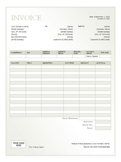 rent invoice template rental invoice template free formats excel word