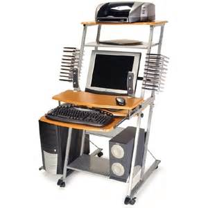 leda desk dl 037 compact design with adjustable monitor