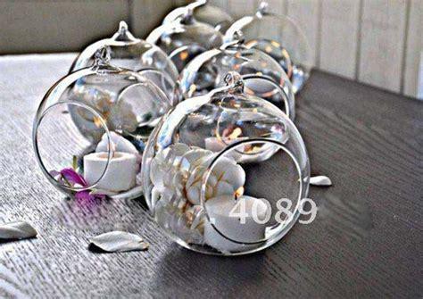 Kerzenhalter Vase by Wholesale 30pcs Dia 12cm Hanging Wedding Glass