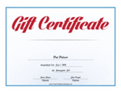 Chiropractic Gift Certificate Template by 6 Generation Family Tree Fan Chart Template