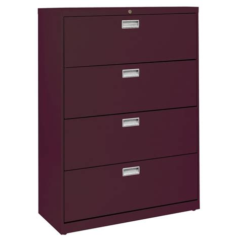 Sandusky 600 Series 36 In W 4 Drawer Lateral File Cabinet 36 Lateral File Cabinet