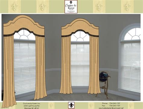 Arched Cornice arched cornices w drapery and shadings traditional rendering detroit by exciting windows