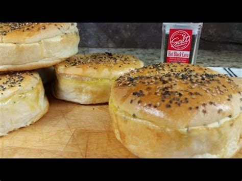 salt and pepper bun salt and pepper hamburger bun recipe youtube