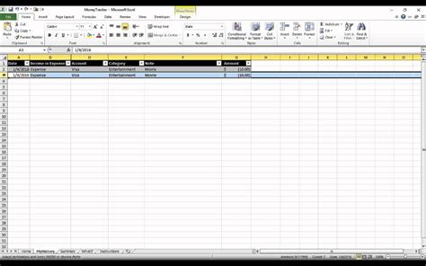 tutorial excel sheet money tracking excel spreadsheet tutorial youtube