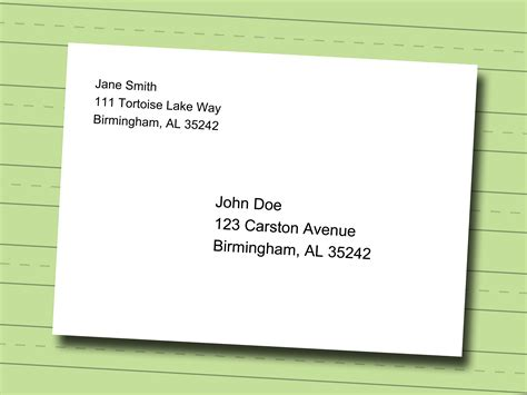 write professional mailing address envelope