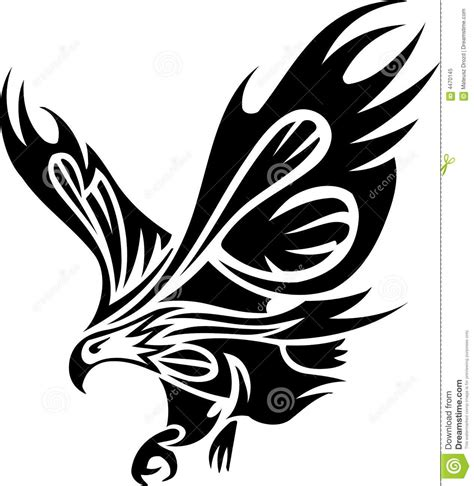 tribal tattoo of eagle royalty free stock photo image