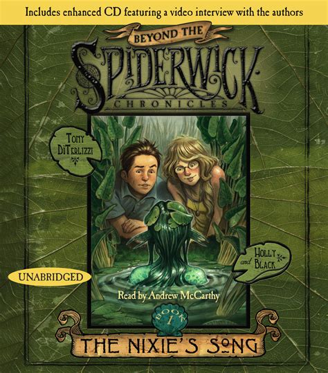 beyond the spiderwick chronicles 1416990119 the nixie s song audiobook on cd by holly black tony diterlizzi andrew mccarthy official