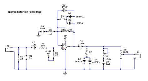 diode distortion circuit op overdrive loud