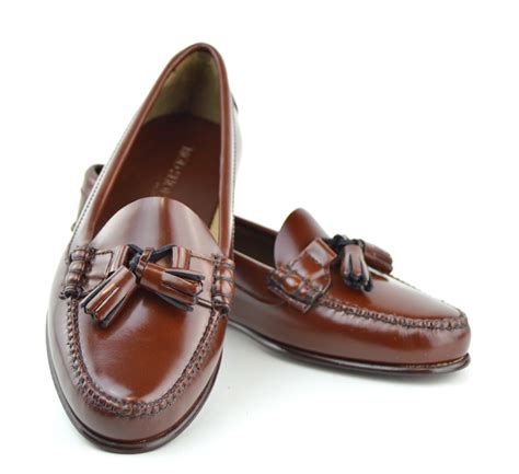 loafer leather shoes chestnut tassel loafer with leather sole the