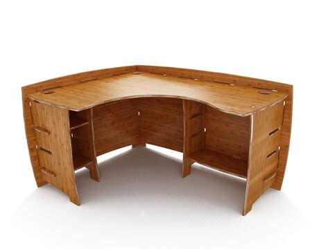 Really Cool Pieces Of Eco Office Furniture Greener Ideal Bamboo Corner Desk