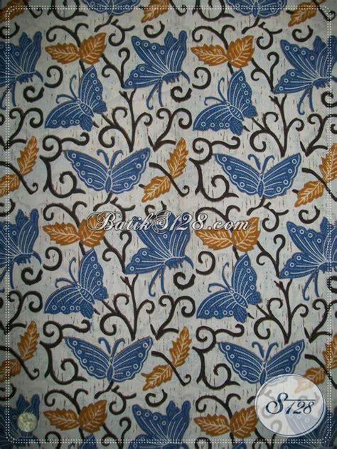 Kain Batik Halus Motif Kupu Ranting Biru Bahan Batik Pekalongan bahan batik motif kupu warna biru batik berkwalitas dan
