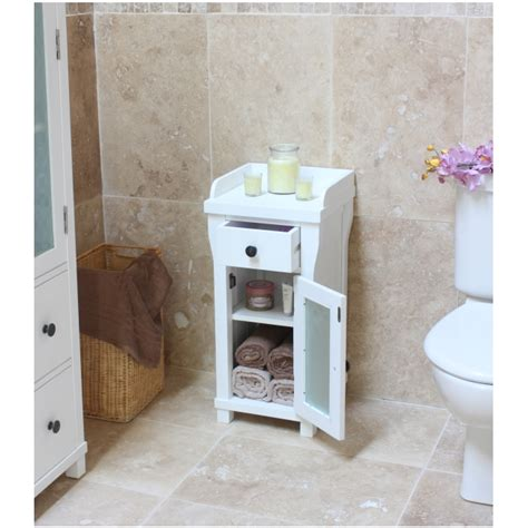 Small Bathroom Storage Furniture Hton Small Glazed Bathroom Cabinet L Table Solid White Painted Furniture Ebay