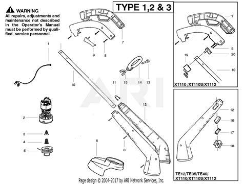 Poulan Xt112 Electric Trimmer Type 3 Xt112 Type 3 Parts