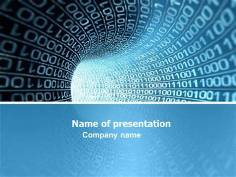 binary powerpoint template binary code presentation template for powerpoint and