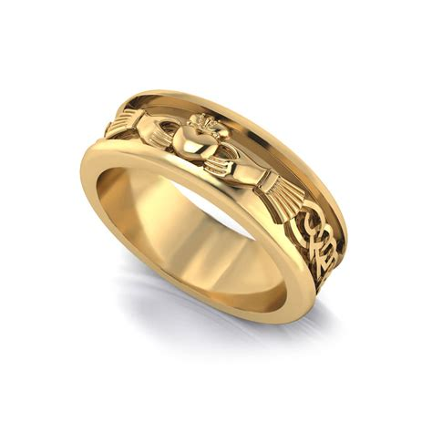 Mens Wedding Rings by S Claddagh Wedding Ring Jewelry Designs