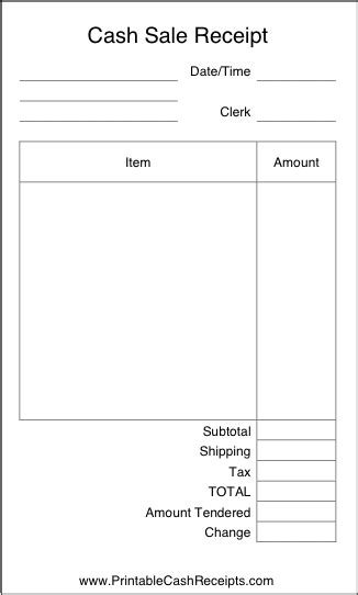 personal sales receipt template top 5 layouts for sales receipt templates word templates