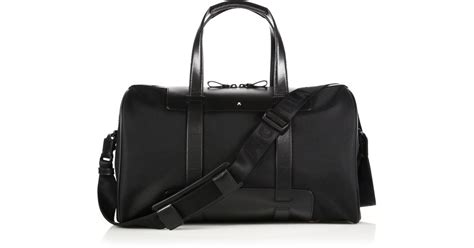 Bag Mont Blanc 3264a lyst montblanc cabin leather trimmed duffle bag in black