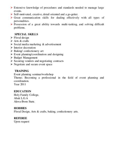 Resume Skills Detail Oriented Resume