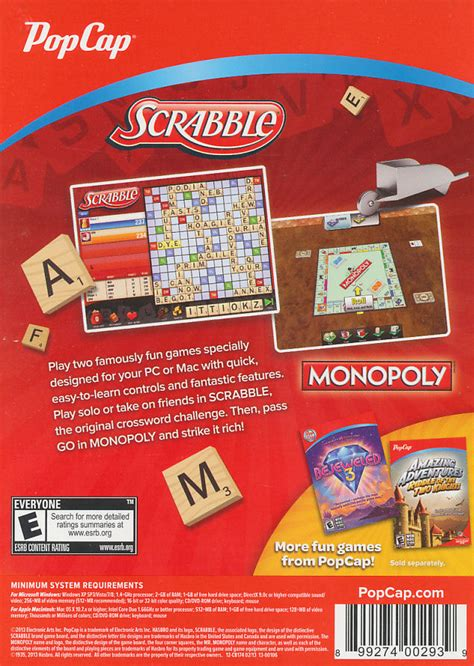 monopoly scrabble scrabble monopoly 2x pc windows xp vista 7 8