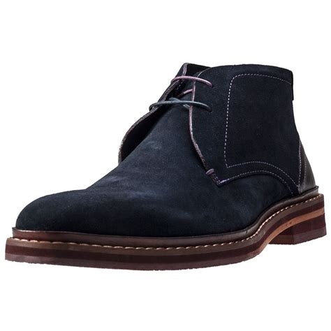Sepatu Teds 08 Suede ted baker azzlan mens chukka boots in blue