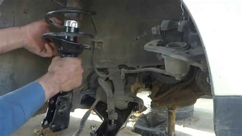 how to install replace rear shocks 2007 13 chevy silverado car front strut installation front shock absorber installation at home youtube