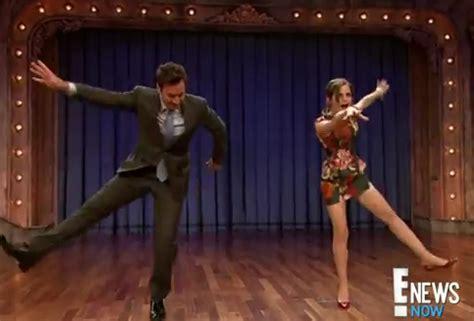 emma watson jimmy fallon dance harry potter star emma watson dirty dances with jimmy