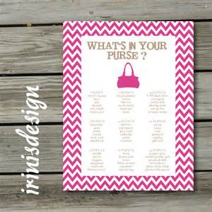 bridal shower what s in your purse print at by