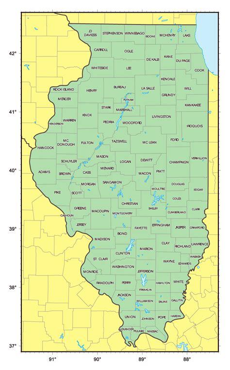 maps usa illinois administrative map of illinois state illinois state