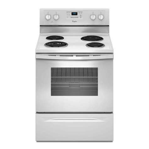 Whirlpool Cooktop Manual whirlpool 30 in 4 8 cu ft electric range with self cleaning oven in white wfc310s0ew the