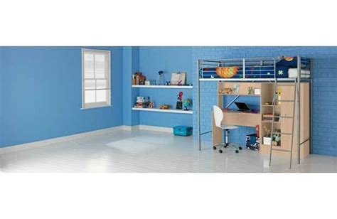 Metal High Sleeper Bed With Desk by Metal High Sleeper Bed With Beech Desk And Wardrobe For