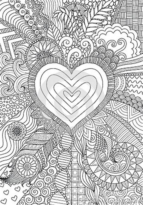 zendoodle design  heart shape  abstract  art
