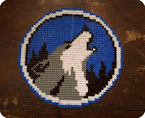 wolf perler bead pattern anyone worth their salt appreciates a wolf
