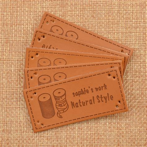 Handmade Labels For Crafts - 5pcs pu leather labels tag handmade sewing craft