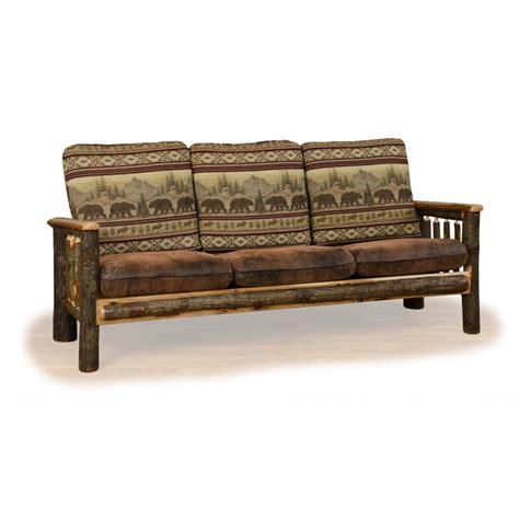 rustic leather sofa set rustic hickory log faux leather sofa