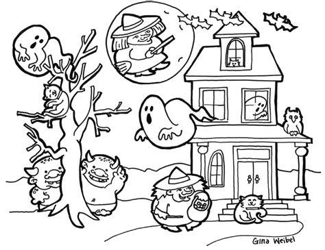 hard halloween coloring pages coloring home
