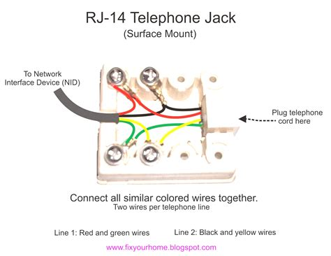 wiring 2 line phone wire diagram telephone wiring diagram