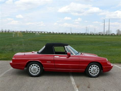how to fix cars 1994 alfa romeo spider electronic toll collection 1994 alfa romeo spider commemorative edition 2950 miles concours as new for sale alfa romeo