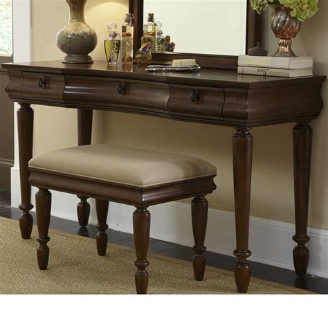 Rustic Vanity Stool by Liberty Furniture Rustic Traditions Vanity Bench With