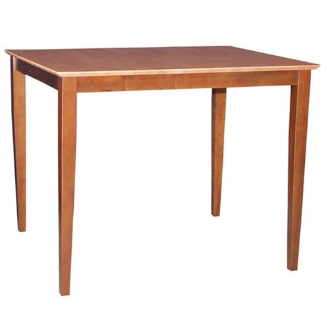 Solid Wood Counter Height Dining Table Cinnamon Espresso Solid Wood Counter Height Dining Room Furniture Table Ebay