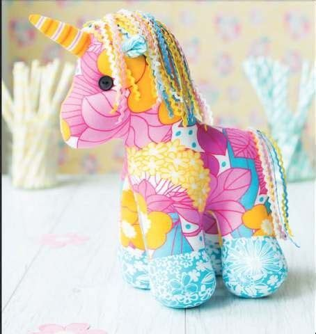 unicorn craft pattern yumi the unicorn toy sewing pattern download pinteres