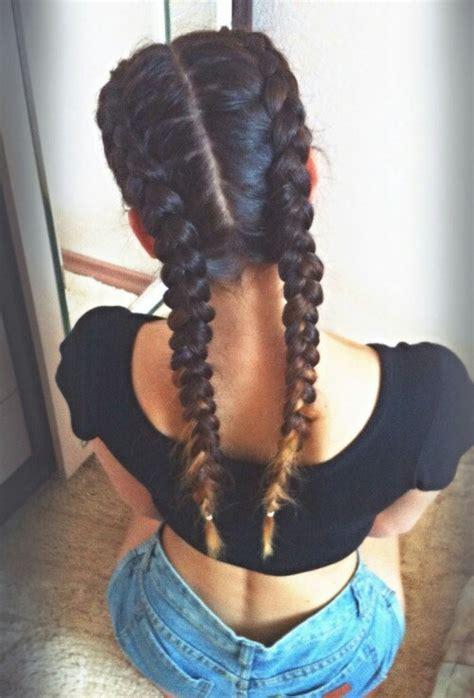 two dutch braids hairstyles 2 dutch braids hair pinterest dutch braids french