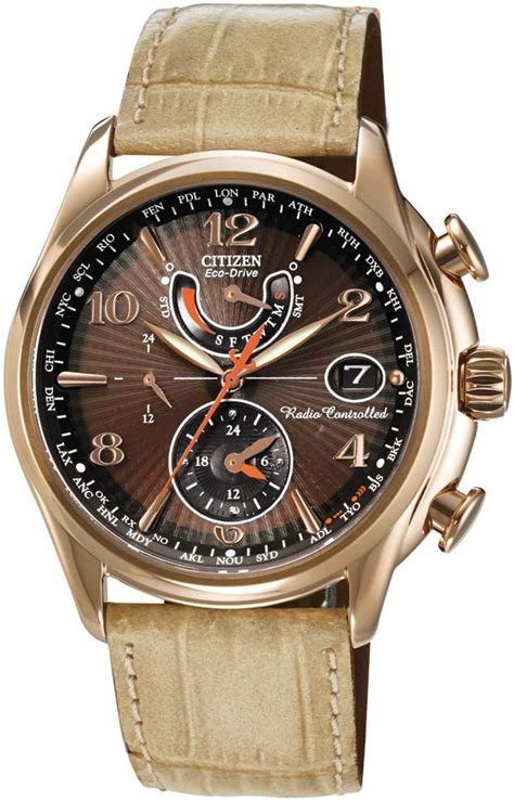 s citizen eco drive world time a t atomic