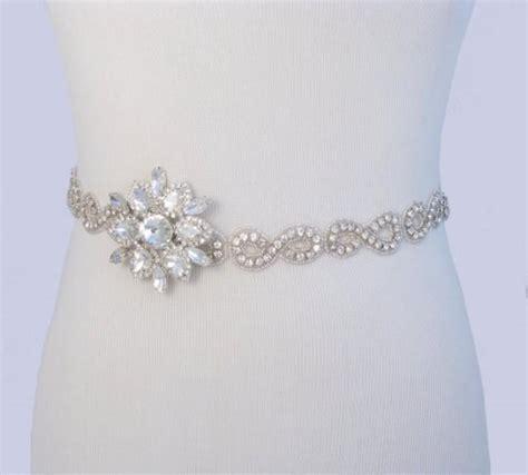 beaded wedding dress belt infinity satin sash beaded rhinestone bridal belt