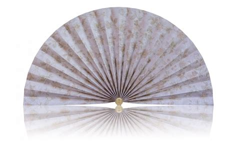 decorative pleated window fans white with light colored florals pleated decorative fans