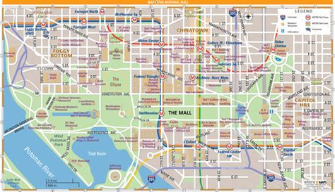 washington dc map national mall national mall map in washington d c wheretraveler