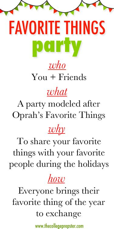 favorite things a fun holiday party idea carly the