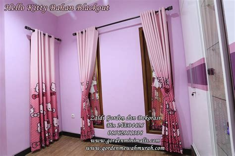 gorden hello untuk kamar anak model pita dipadu gorden smokering model gorden rumah