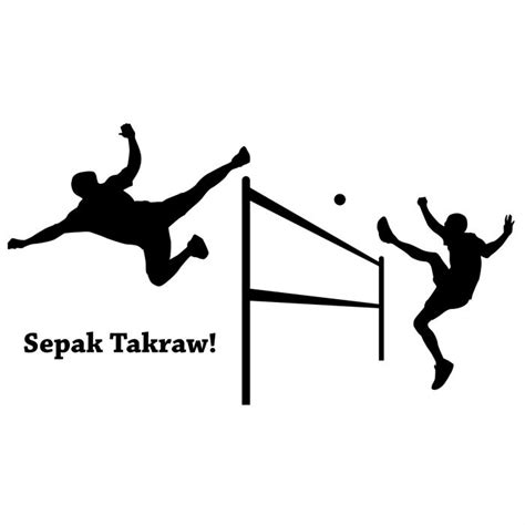 Black And White Wall Stickers footbagcentral com sepak takraw attacker wall decal