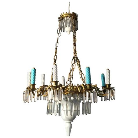 Circa Lighting Chandeliers Ceramic Glass And Brass Chandelier Circa 1900 For Sale At 1stdibs