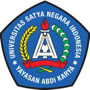 universitas satya negara indonesia logo vector logo